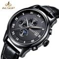 AESOP Uhr Männer Marke Automatische Mechanische Uhr Schwarz Leder herren Handgelenk Armbanduhr Männlichen Uhr Männer Relogio Masculino