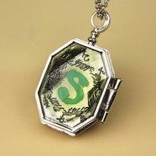Модное ювелирное изделие, серебряный шарм, Поттер, медальон-крестраж, ожерелье, двухсторонняя подвеска, ожерелье, лучший подарок для фанатов