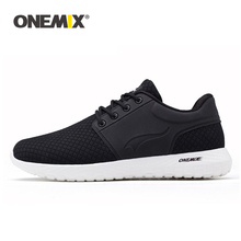 ONEMIX Running Shoes For Men Breathable Mesh Women Sports Sneaker Lightweight Lace-up Sneaker For Outdoor Walking Trekking Shoes merrto men walking shoes breathable sneaker lightweight outdoor trekking shoes for men breathable air mensh trekking shoes