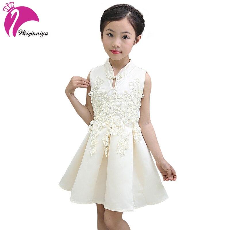 Girl Dresses Summer Dress New Brand Sleeveless Retro Ladies Baby Girl Clothes Children Vestidos Hot Sale
