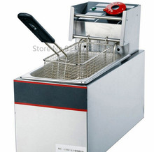 Electric fryer Single-tank frying oven_stainless steel deep fryer 4liters 110v with various choice of plugs