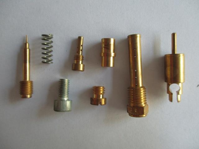 main image screw. Mix Screw Needle Valve Seat Idle Jet Main Brass Kits For CV40mm Motorcycle Carburetor Image
