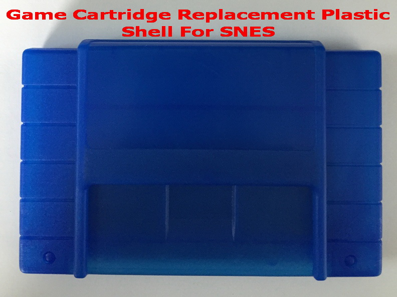 Candy Blue color Game Cartridge Replacement Plastic Shell For NTSC SNES Console
