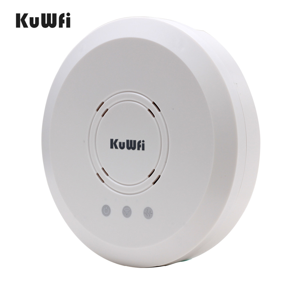 Image 3 - Kuwfi 300Mbps Indoor Ceiling Mount Wireless Access Point Controller System Wireless Router Long Coverage For Hotel/School-in Wireless Routers from Computer & Office