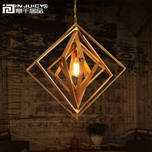 Buy square lamp shades and get free shipping on aliexpress in juicy japanese vintage wood bamboo lantern e27 ediosn pendant lights lamps shades mozeypictures Images