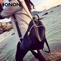 JONON Women Genuine Leather Bag Brand Backpacks Famous Designer Cow Leather School Bag For Teenager Girls Travel Backpack