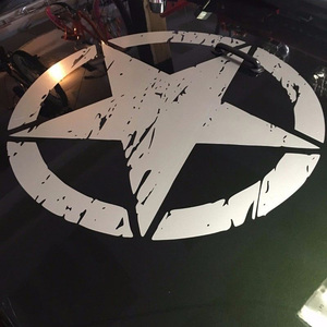 Image 4 - 50cm Stars Car Stickers and Decals For Jeep Hood Auto Decal Engine Cover Car Vinyl Car Accessories 3 Colors