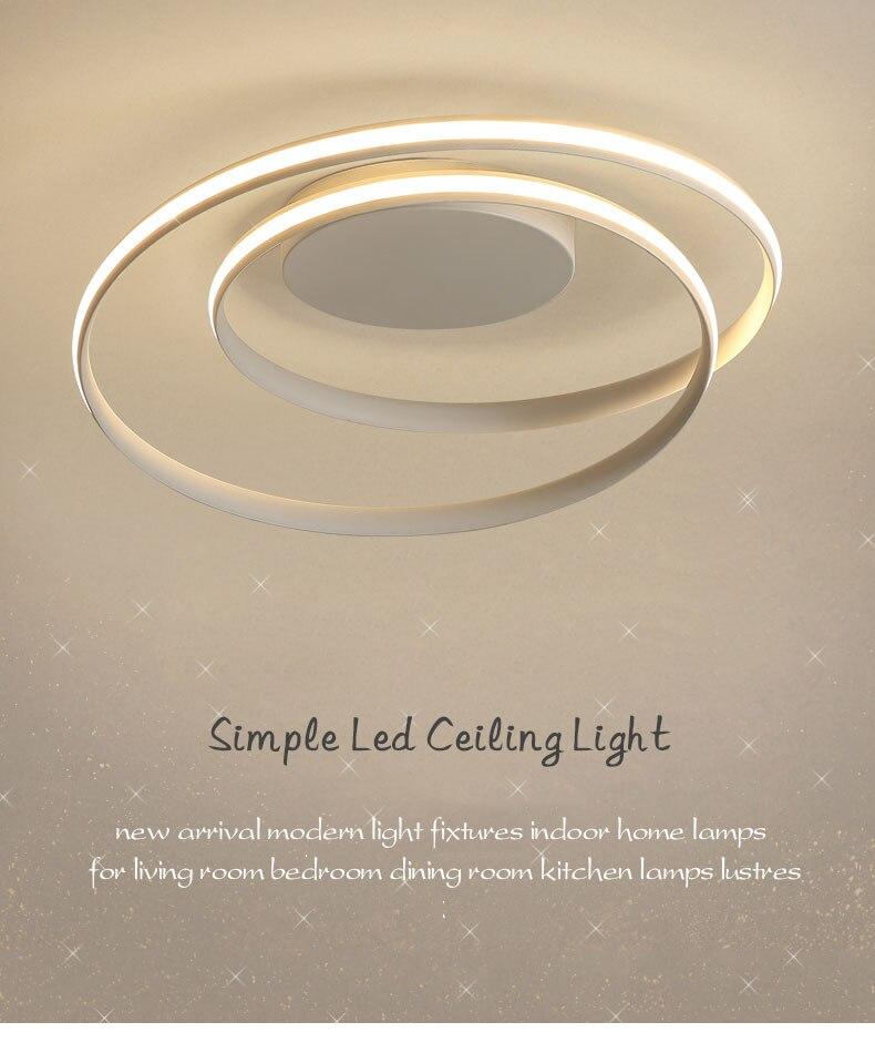 HTB1hzU6PVzqK1RjSZFoq6zfcXXas Hot Sale Modern LED Ceiling Lights For Living Room Bedroom Dining Room Luminaires White&Black Ceiling Lamps Fixtures AC110V 220V