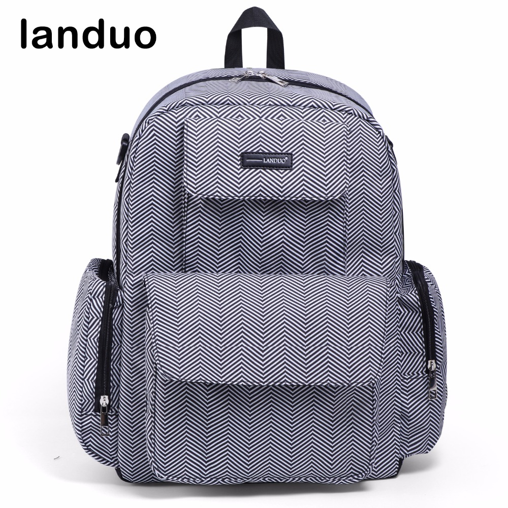 landuo LAND Changing Bag Diaper ag Travel Mummy Bag For Stroller Maternity Nappy Bag Large-sized Backpack Baby Care Nursing Bag все цены