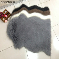 Home Textiles Carpets for Living Room Bedroom Tapete Imitation Wool Mats Latex Non Slip Bedside Pad Camera Props 60X95