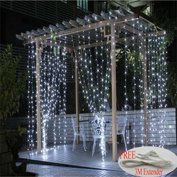2016 3m x 3m 300 led outdoor home warm white christmas decorative xmas string fairy curtain.jpg 250x250