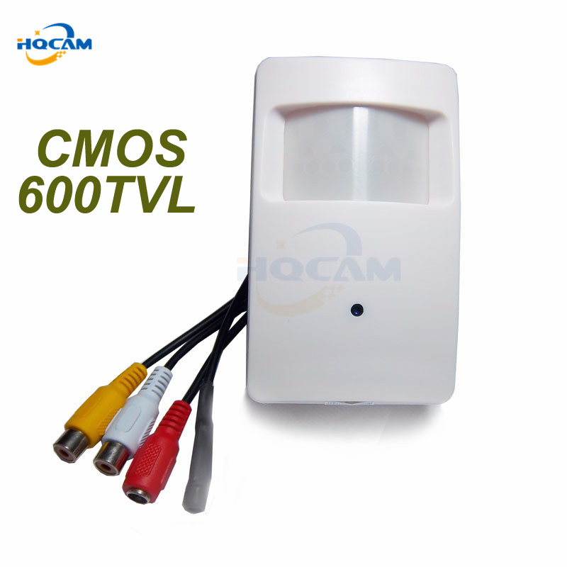 HQCAM 600TVL 1/3 SONY CCD 4140+639\638 CCTV security Camera Color PIR STYLE Indoor CCTV Mini PIR Style microphone MINI CAMERA hqcam 600tvl sony ccd camera 170degree