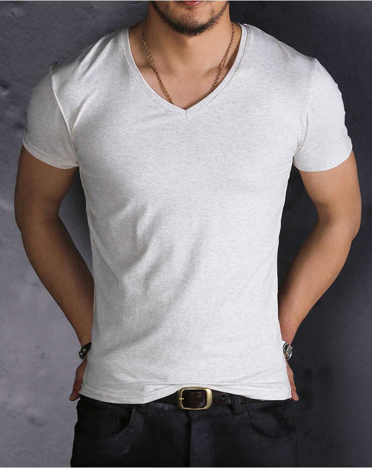 メンズ Tシャツスリムフィット V ネックメンズ半袖コットン Tシャツカジュアル Tシャツメンズ tシャツブランド服トップス tシャツオム T900