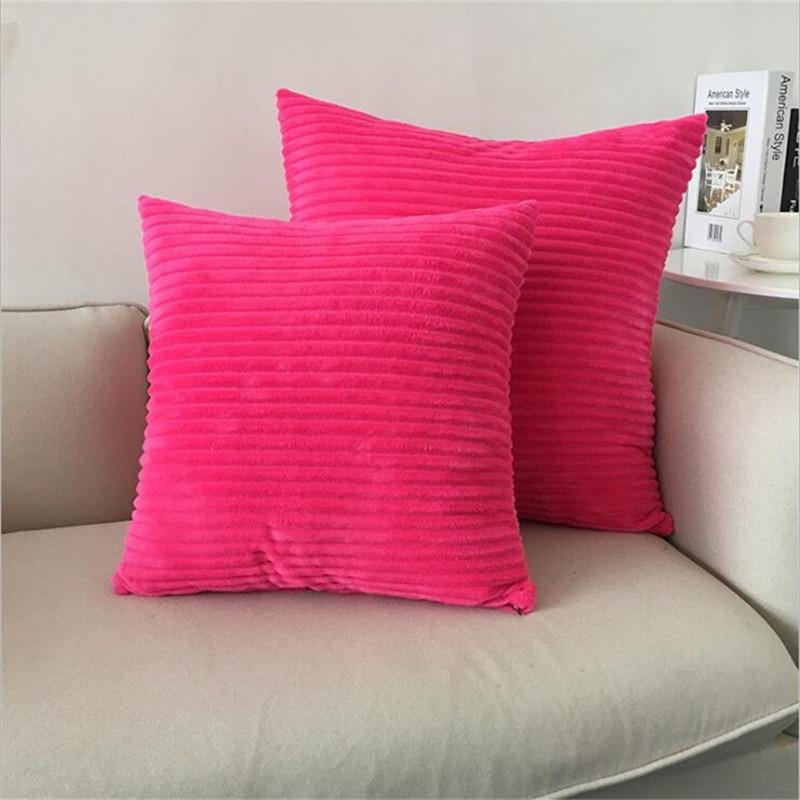 Power Source Objective Striped Corduroy Fabric Sofa Cushion Cover,40x40cm/45x45cm/50x50cm/55x55cm/60x60cm Size Home Decorative Pillow Cover Mild And Mellow