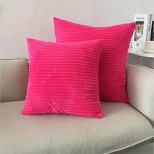 Striped Corduroy Fabric Sofa Cushion Cover,40x40cm/45x45cm/50x50cm/55x55cm/60x60cm Size Home Decorative Pillow Cover