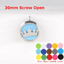 Diffuser Locket Crown Stainless Steel Aromatherapy Essential Oil Screw 316 Perfume Pendant