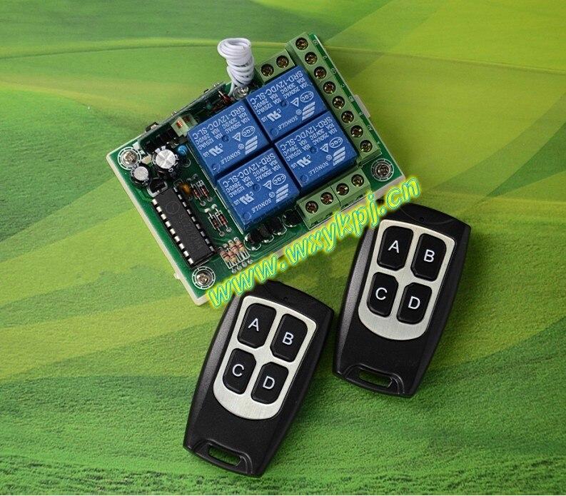 AC 12 V 10A 4CH RF Inalámbrico Sistema de Control Remoto Para Puertas de garaje/