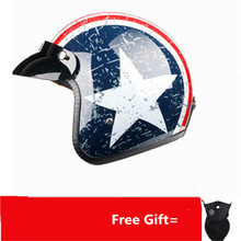 цена на 2019 new casco capacetes motorcycle helmet retro vintage motocross helmet 3/4 open face scooter helmets S~XXL