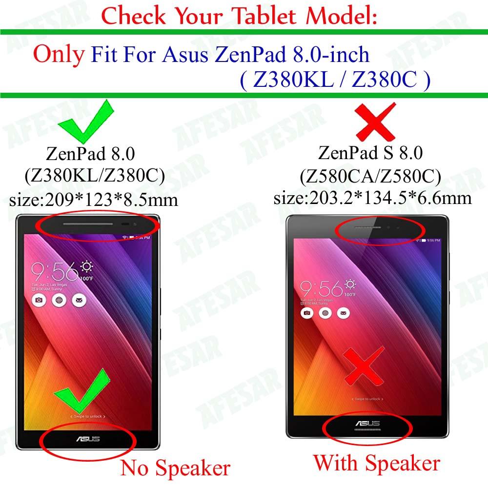 Pen-Verde flim Funda Plegable de Cuero de PU en Folio para ASUS Zenpad 8.0 Z380 Z380KL Z380C Funda Inteligente de 8 Pulgadas para ASUS Zenpad 8.0 Tablet Funda