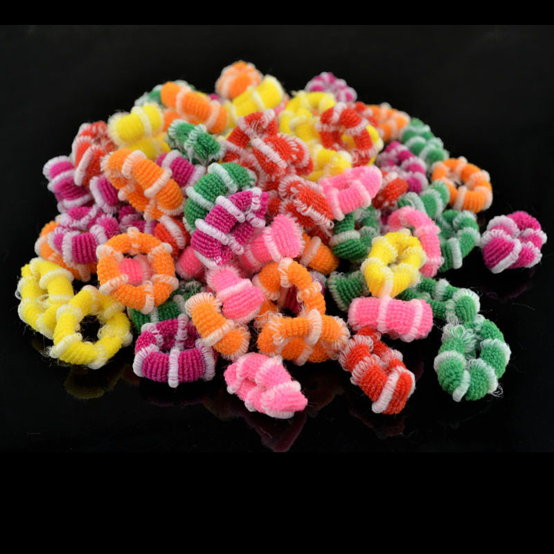 100Pcs/Lot New Fashion Child Baby Kids Ponytail Holders Hair Accessories For Girl Rubber Band Tie Gum fancytrader new style giant plush stuffed kids toys lovely rubber duck 39 100cm yellow rubber duck free shipping ft90122