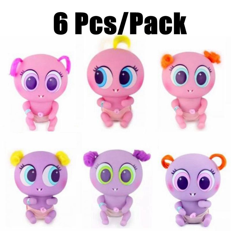 6 unids/pack Casimeritos Juguetes Ksimeritos Juguetes con neonato Nerlie accesorios Micro Kit de Nerlie recién nacido bebés Accesorios