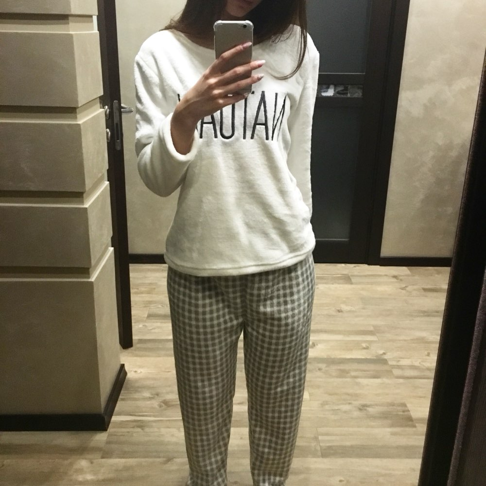 Winter Pyjamas Women Polyester Full Trousers Lady Two Piece Pajama Set  Cartoon Flannel Female Home Clothing Women s Pajamas Sets-in Pajama Sets  from ... 04cacf03a