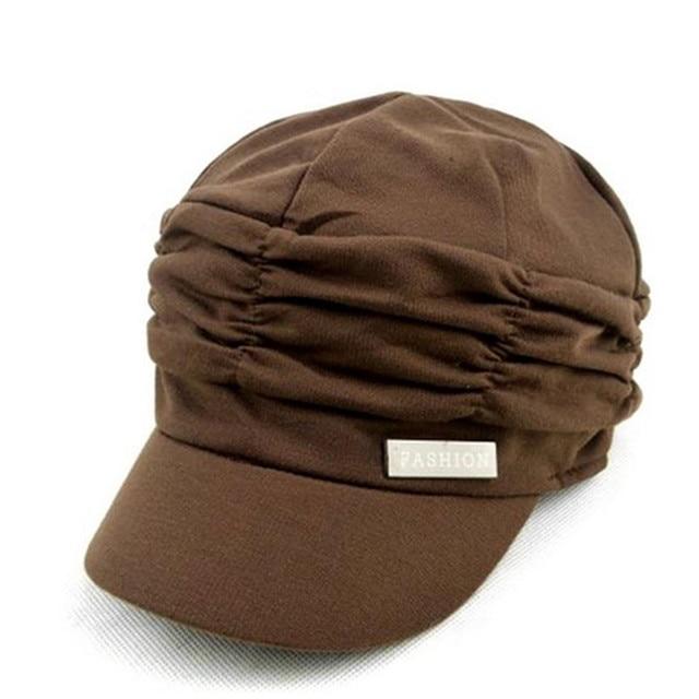 Fashion Drape Pleated Layers Beanies Casual Brim Visor Caps Wholesale Women  Hats Girls df259fc735ba