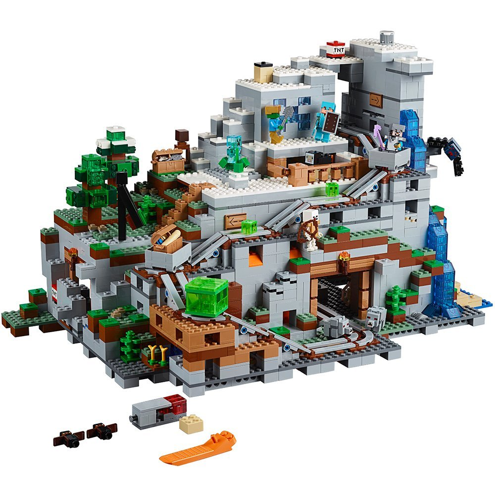 Lepin 18032 Miniecraft 2932pcs The Mountain Cave My worlds Model Building Kit Blocks Bricks Toy for Children 21137 уэллс г война миров the war of the worlds