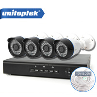 CCTV 4CH 1 0MP IP Camera Security System Network Support POE NVR Kit Home Video Surveillance