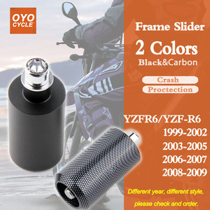 For Yamaha YZFR6 YZF R6 YZF-R6 Frame Slider Crash Pad Falling Protection Motorcycle Parts 1999 2000 2001 2002 2003 2004-2009(China)