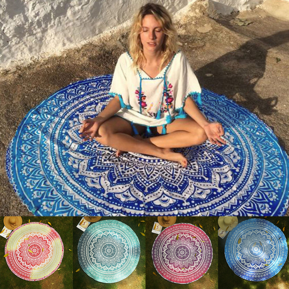 Round Mandala Tapestry Yoga Mat Indian Wall Hanging Beach Throw Towel Picnic Blanket Shawl Bohemia Decor Carpet Rug Tapestry Rug Set Rugged Pctapestry Bedding Aliexpress