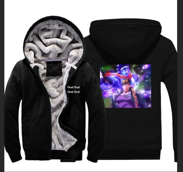 Anime JOJOS BIZARRE ADVENTURE Hoodie JOJO Thick Sweatshirt Coat US S 3XL Can Be Customized