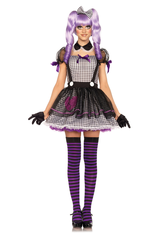 ojo muerto dollie traje adulto mujeres de halloween vestido de lujo del traje traje de mueca de trapo
