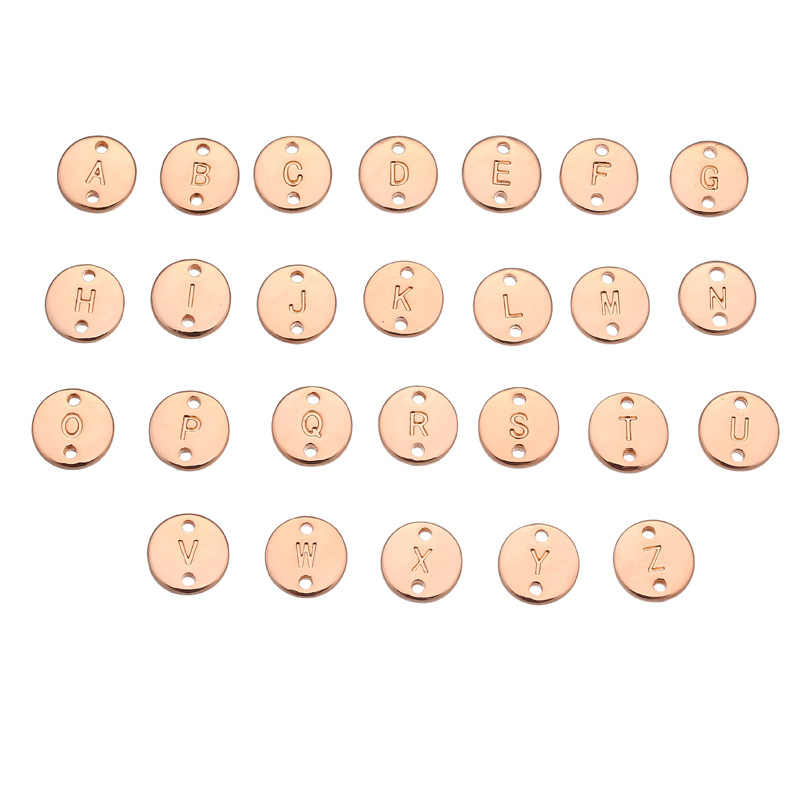 A to T 26 Letters Fashion Rose Gold/Silver Alloy Letter Bracelet Snake Chain Charm Bracelet homme femme Personality jewellery