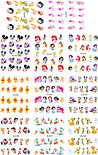 11sheet/lot Nail Stickers Disney Mickey Mouse Cartoon Princess Stickers for nails Water Transfer Sticker On Nail Decal ZJT0003(China)