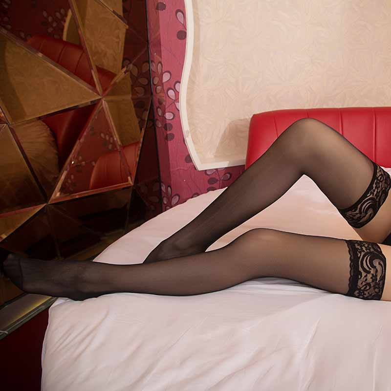Hot Sexy Stockings Lace Ladies Womens Sheer Lace Top -1710