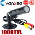 Vanxse cctv 1/3 sony ccd 1000tvl 3.6mm hd mini bala câmera de segurança de vigilância com suporte