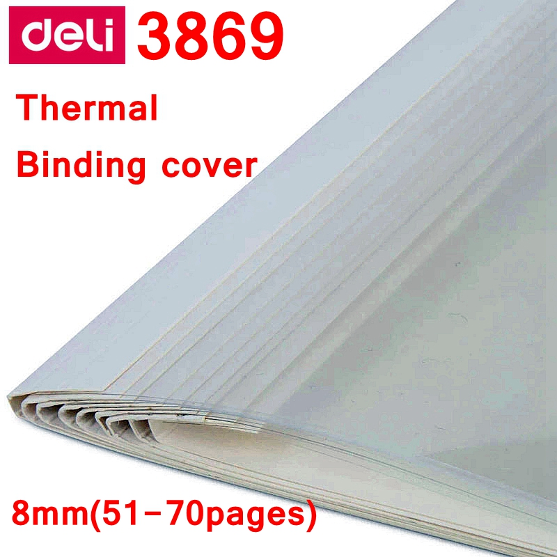 [ReadStar]10PCS/LOT Deli 3869 Thermal Binding Cover A4