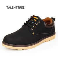 TALENTTREE Men Shoes Hot Sale Casual Shoes Men Spring Autumn Waterproof Solid Lace up Man Fashion Flat With Pu Leather Shoe