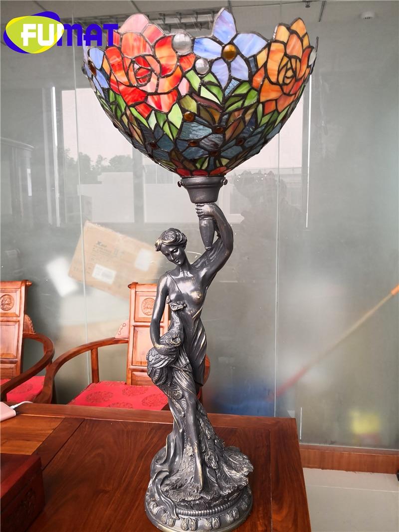 FUMAT Tiffany Goddess Table Lamp