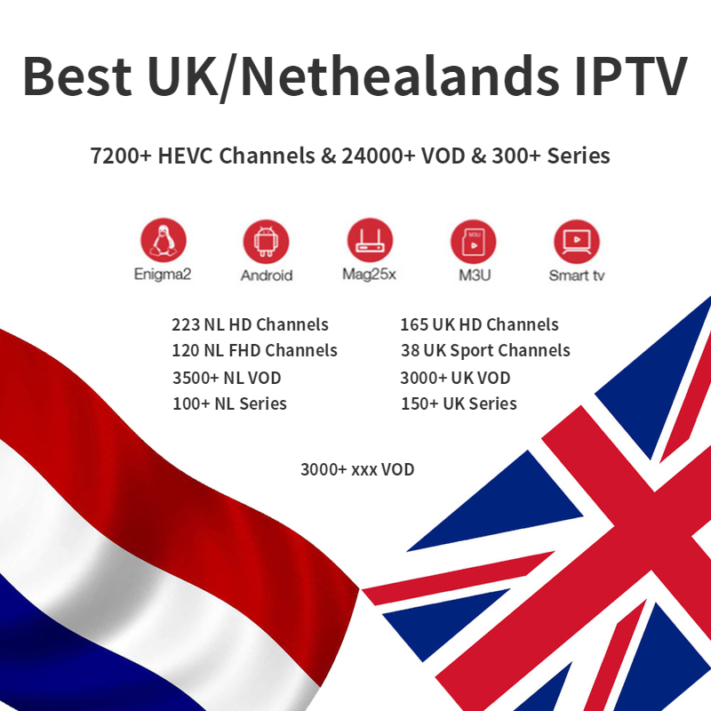 Best Iptv Netherland Uk IPTV Holland Dutch Brazil Brasil 7000+ HEVC Channels Subscription 1 Year Belgium Sweden Israel Xxx M3u