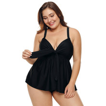 Plus Size Women Split Swimsuit Lady Sexy Sling Enlarged Skirt Style New Hot Spring Skinny Shade Belly