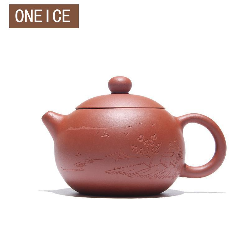 Cinese Yixing Tè, Articoli e Attrezzature fatto A Mano Xi Shi pentola Qing Cemento Tè set teiere Autore Zhou ting 180 ml Fatto A Mano Cinese gongfu Tea