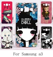 HOT!Newest High Quality Smournful Lady Print Cover For Samsung Galaxy A3 2014 A3000 A300F Cases Hard Plastic and Soft TPU Cover