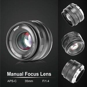 Image 3 - Meike 35mm f1.4  Manual Focus  lens APS C for Fujifilm XT100 XT3 XT10 XT4 XT20 XT30 XE3 XE1 X30 XT2 XA1 XPro1 camera + Gift