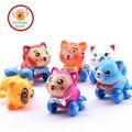 IQANGLE 1PCS Hot Colorful Cat Wind Up Toys Clockwork Toy Baby Kid Running Spring Toy Children Newborn Baby Mini Pet Animal