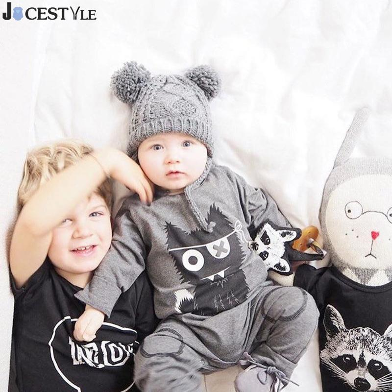 New 2018 Fashion Baby Boy Clothes Long Sleeve Baby Romper Newborn Cotton Baby Girl Jumpsuit Little Monster Infant Clothing zofz baby girls clothing newborn baby boy girl clothes long sleeve cartoon printed jumpsuit baby romper for baby boy clothing