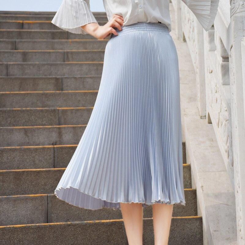 2017 Verë e Re Stretch Moda e Re Bright Pleated Women Gratë Një - Veshje për femra - Foto 2