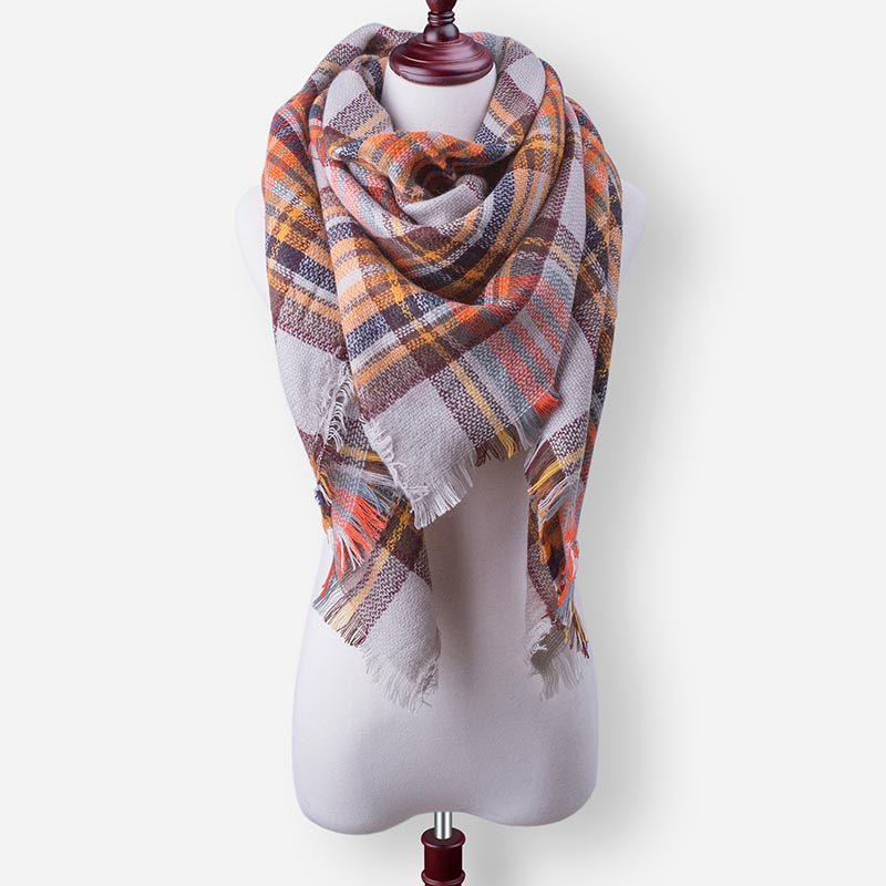 Бренд Evrfelan, шарфы, Прямая поставка, женский зимний шарф, высокое качество, плед, одеяло, шарф и шаль, большой размер, плотные шарфы, шали - Цвет: W29