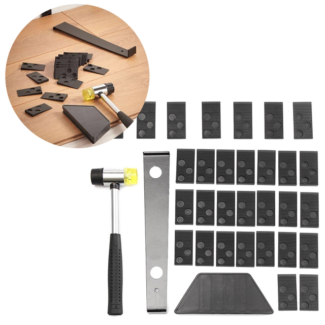 Wood Laminate Flooring Installation Tool Floor Ing Kit With Mallet Spacers For Hand Set